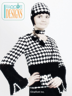 Classic Black and White Blouse and Beanie Set designed and made by IraRott