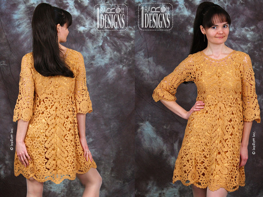 bruges lace crochet freeform dress by irarott