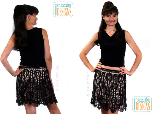 bruges tape lace mini skirt by irarott