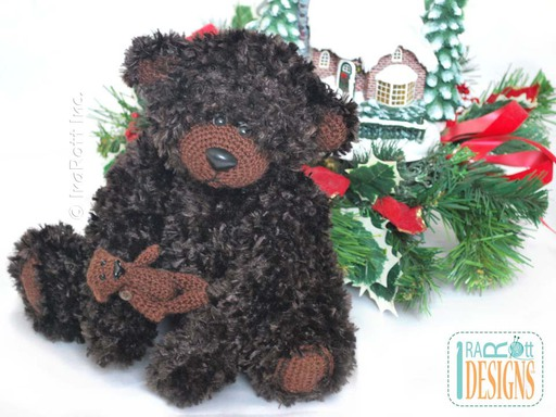 Furry Teddy Bear With Miniature Bear Crochet Pattern by IraRott
