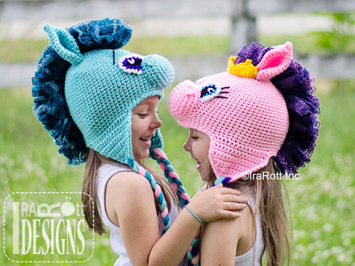 Circus Pony Crochet Animal Hat designed and made by IraRott