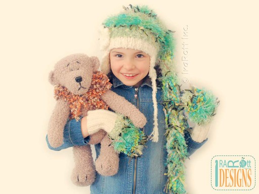Soft Plush Teddy Bear Amigurumi Toy with Hand Crochet Vest for Kids