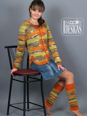 Country Style Knit Jacket with Hood and Legwarmers designed by IraRott