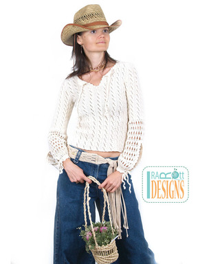 Country Style Knit Sweater with Lace Sleeves designed by IraRott