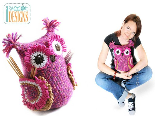 Crochet Owl Buddy Amigurumi Needle Organizer Crochet Pattern by IraRott