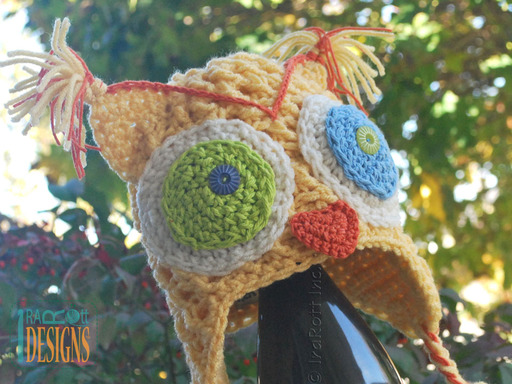 Happy Owl Hat with Multicolored Eyes designed and made by IraRott