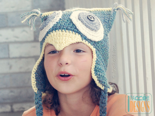 Crochet Owl Animal Hat with Bill designed and made by IraRott