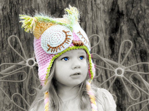 Adorable Crochet Owl Animal Hat designed and made by IraRott