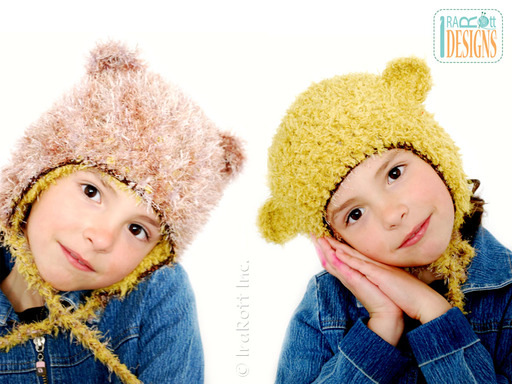 Reversible Crochet Lion Monkey Hat  designed and made by IraRott