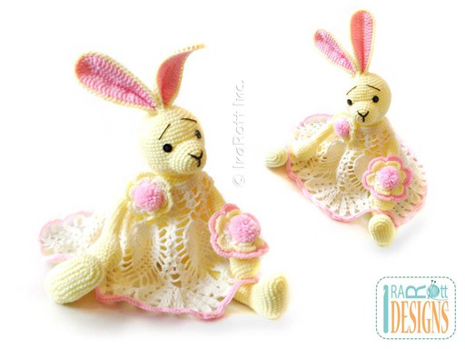 Easter Sunny Bunny Amigurumi stuffed Animal Toy and Lace Pineapple Dress Crochet Pattern by IraRott
