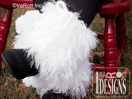 Crochet Furry Boot Cuffs with Pom-Poms designed by IraRott