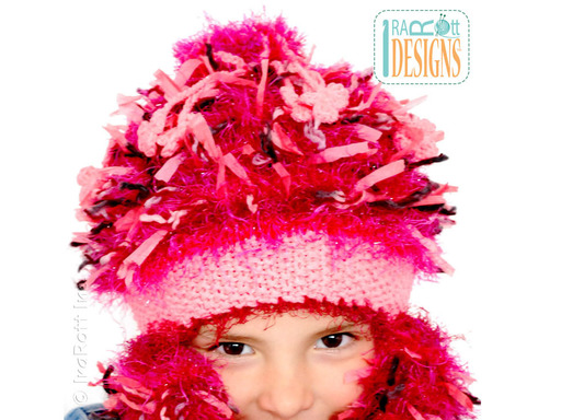 Furry Crochet Pink Cupcake Hat designed and made by IraRott