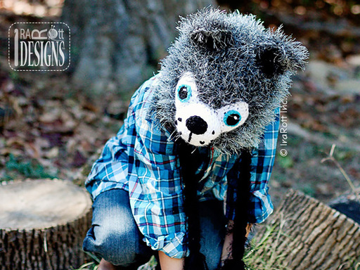 Furry Wolf Forest Animal Hat designed and made by IraRott