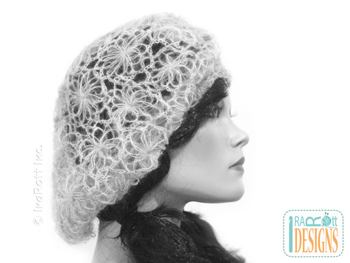 Heirloom Crochet Lace French Beret designed and made by IraRott