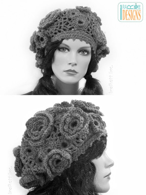 Irish Crochet Lace French Beret designed and made by IraRott