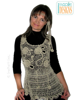 Hairpin Lace Free-Form Crochet Top  designed and made by IraRott