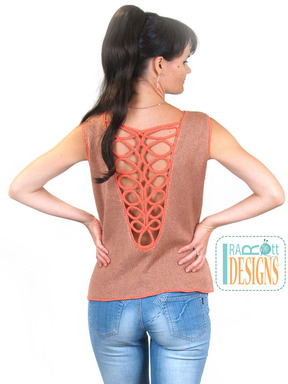 Romanian Point-Lace Cord Summer Top designed by IraRott