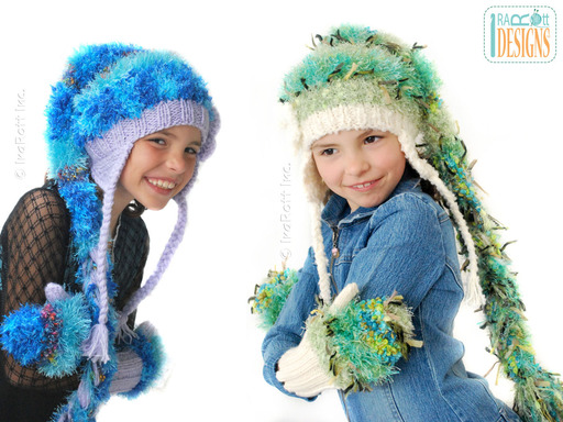 Chunky Multicolored Elf Hats with Braids designed and made by IraRott