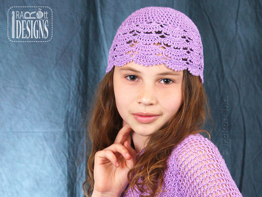 Lace Shell Crochet Summer Beanie designed and made by IraRott