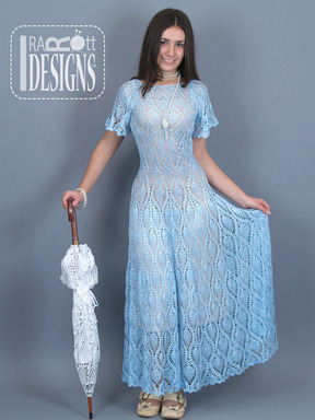 Pineapple Lace Long Flared Dress designed and made by IraRott