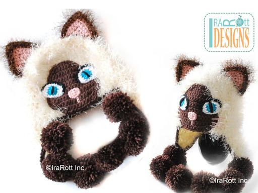 Crochet and Knit Kitty Cat Animal Hat Clothing Stuffed Animals Patterns