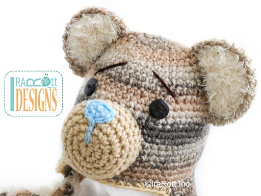 Classic Teddy Bear Forest Animal Hat designed and made by IraRott